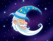 Crescent Wizard (Lapel Pin | Sticker | Illustration)