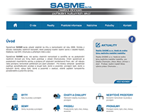 Company website for real estate service SASME s.r.o.
