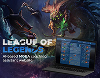 League of Legends AI MOBA coaching assistant website