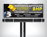 Billboard for wholesale of health and safety products