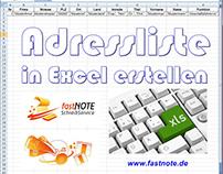 Adressliste in Excel erstellen