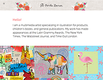 Farida Zaman Artist Website
