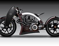 Illustration of American chopper bike..