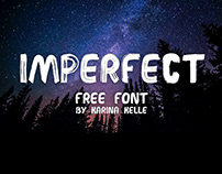 IMPERFECT - FREE Handwritten brush font