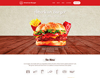 American Burger Restaurant Website Design UI UX