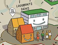 Itinéraires pour un logement sain.
