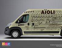Aioli food truck branding