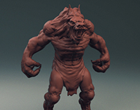 Werewolf - Personal Project - Available for 3D Printing