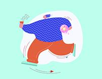 Candy Shop Illustrations.