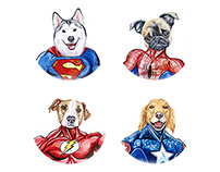 Super Heroes Dogs