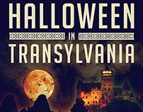 "The identity for ""Halloween in Transylvania"" event."