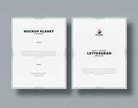 Free Letter Size Letterhead Mockup