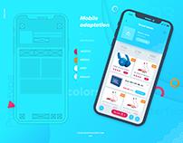 Yourfavoriteshoppe.com iOS app Wireframe prototype