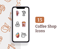 Coffee Shop Icons - Lined + Filled
