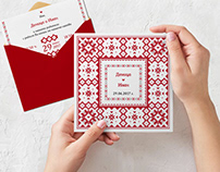 Wedding Invitations Inspired by Bulgarian Folklore