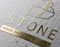 Logo design for the Stone Spa Resort (Almaty city)
