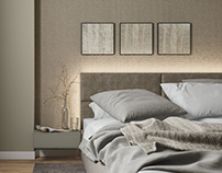 Bedroom Beige & Gray