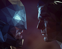 Batman Vs Superman: Low Poly