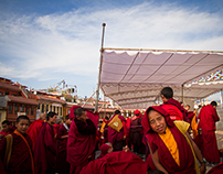 Puja, Boudhanath Stupa, Kathmandu, Nepal