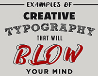 Creative Typography - Blow Your Mind