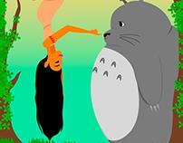 Totoro and Pocahontas
