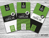 Green Paleo chocolate branding and packaging design