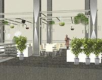 Проект летней веранды кафе Кофеин. Сургут