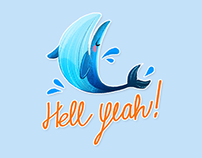 Humpy the whale ~ Chat stickers