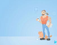 Awesome JavaScript Developer (social media art)