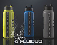 Fluiduo -Dual chambered water bottle
