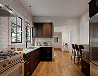 KITCHEN BEAUTY SHOT SHOWCASING THE CABINETRY STYLE