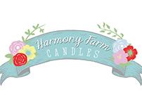 Harmony Farm Candles Branding