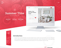 Summer Time — Real Estate Website Theme UX/UI