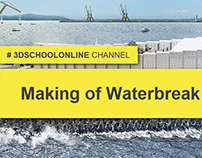 How To Make Waterbreak In 3Dsmax - Tutorial