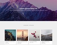 A portfolio web page