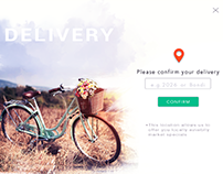 Delivery pop up