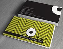 Cartão de visita Roda Estúdio Alternativo.