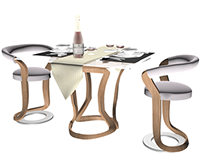 dining furniture design (3dsmax)