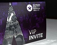 Norther Star Business Awards VIP invite design