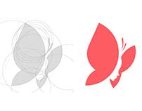 Butterfly Girl Logo Grid