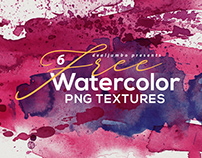 6 Free Abstract Watercolor Shapes