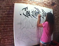 Quadro caligráfico - 2x2m