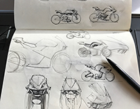 Sketchbook: Bikes and Front Fairings