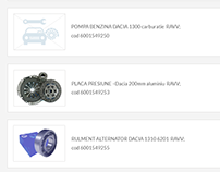 Car Parts Supplier Website