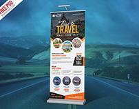 Freebie : Tour Travel Roll Up Banner PSD