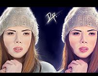 Winter Girl Digital Art