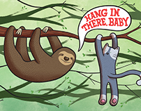 """Hang in There, Baby"" Print"