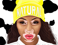Winnie Harlow digital painting