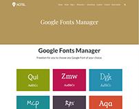 Google Fonts Manager - Hotel WordPress Theme