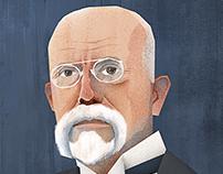 Portrait Tomas Garrigue Masaryk